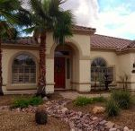 Front Yard Landscaping | Low Maintenance / Low maintenance front yards using water conservation methods with desert adaptive plants in the Sonoran Desert.