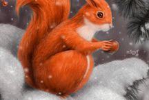 tél állatok