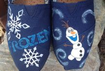 Shoes - frozen / Hand painted canvas shoes with frozen theme