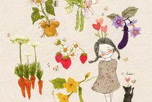 κοριτσακι και λαχανικα
