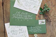 natural wedding invitation