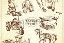 картинки со старинными игрушками