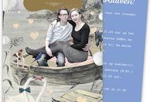 Originele en vintage trouwkaarten / Originele, vintage en retro trouwkaarten met illustraties van Lobke Bergervoet.