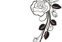 ramas de rosas