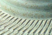 Speckled green glaze