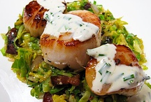 scallops sprouts