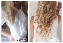 Prima e Dopo Vpfashion Extension / Foto Prima e Dopo che indossano le extension vpfashion