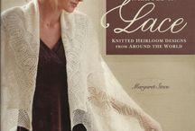 scarf, lace knit