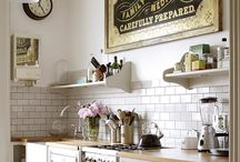 kitchen. / farmhouse. cottage. industrial.  what else? / by judi burrows-inspired (vintage.home.design)