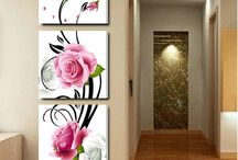 roses for wall painting
