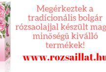 Rózsaillat.hu-Minden termék igazi rózsa eszenciával! / Megérkezett a http://www.rozsaillat.hu Tradícionális bolgár rózsaolajjal készült magas minőségű kiváló termékek, verhetetlen áron! Nézelődj kedvedre lepd meg magad, vagy szeretteid egy igazán különleges egyedi ajándékkal!