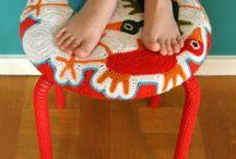 Crochet Ikea kruk