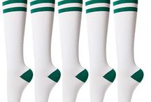 Sockstheway Womens Casual Knee High Socks with Triple Stripe