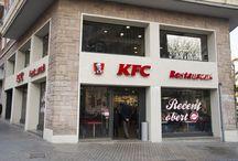 KFC Sagrada Familia - Barcelona / Calcher suministra el mobiliario el nuevo KFC Sagrada Familia en Barcelona.