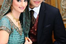 Brides and grooms / dresses,shoes.make up, hair style.photo shoot. / by bilal mughal