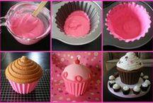 Ideas for my Wlton Giant cupcake tin / by Tammy Jenkins