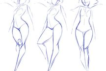 pose study / figure and  body parts poses