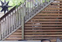 Shed / Inspiration for sheds, sheds with pergola and under stairs shed