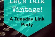 Let's Talk Vintage Posts!
