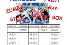 K-Fem : Zumba, Aerobic, GAP, Nins, Cardiobox, Steps / Actividades en K-Kem: Zumba, Aerobic, GAP, Nins, Cardiobox, Steps, Pilates, Ioga, Yoga
