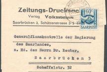Stamps, Germany, Saar