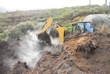 Compost production / all organic waste is recycled at Tokara and turned into wonderful compost