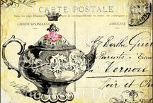 carte postale antique