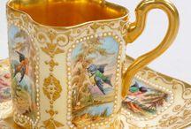 Old porcelain cups