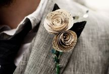 Lovelier Lapels / Sprucing up those wedding lapels and vests with beautiful boutonnieres.