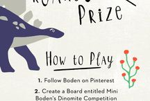 Mini Boden's Dinomite Competition / Find and pin our dino prints for the chance to win a (T-r)excellent prize.  / by Boden