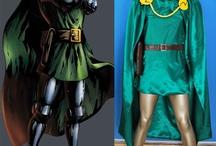 Marvel Comics costumes / Marvel green lantern Jumpsuit, Doctor Doom cosplay costumes