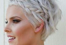 lyhyt hopeinen tukka