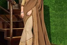 2688 Mango 8 Designer Party Wear Saree / The fabulous pattern makes this saree from Indian Women a classy number to be included in your wardrobe.  Ideal for party, festive & social gatherings. this gorgeous saree featuring a beautiful mix of designs. Its attractive color and designer floral design, stone work over the attire & contrast hemline adds to the look.