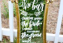 signage {weddings}