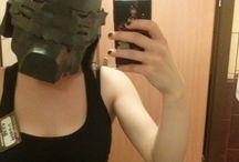 Papercraft mask #SELFIE Alphonse