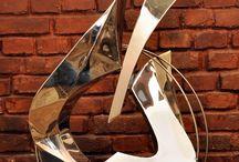Ulman Sculpture / Contemporary metal sculpture. Stainless steel, bronze, brass, copper, corten steel.
