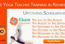 Scholarship Program - 200 Hours Yoga Teacher Training Rishikesh India / Glad to announce @ekamyogashala Yoga Alliance Certified Yoga School in Rishikesh India offering Scholarship Program for 200 Hours Yoga Teacher Training Course from July month to December month. 1st Batch will be start from 9th July and will end on 3rd August. Every month the dates of the events will be 9th to 3rd. Interested Candidate fill up the form through Scholarship Page. You can easily find more Information & Scholarship Form link in Pins. To Know more follow Board.