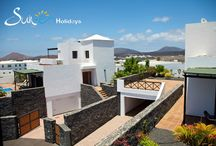 Villas Yaiza -Yaiza - Lanzarote - Spain / This beautifully designed villa in the tranquil village setting of Yaiza, is set in a private gated residential complex of four villas, all four villa are identical and all have their own private electrically heated swimming pool.