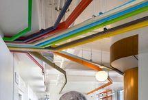 Pintar tuberías en el techo