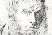 Caspar David Friedrich(1774-1840)_german romanticism / Landscape(peyzaj) and human presence. subjective, emotional response to the natural world. human presence in diminished perspective among landscapes. tarkovski?