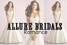 Allure Bridals Romance / For the hopeless romantic in all of us, Allure's Bridals Romance collection will make him fall in love with you all over again. Charming accents and embellishments make each piece unique. The mermaid silhouettes, sweetheart necklines and A-Line skirts will accentuate your figure for a swoon-worthy look.