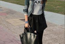 Falda negra invierno