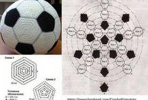 Crocheted footballs