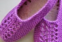 sapatilha de crochet