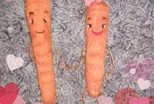 Katie carrot kevins girlfriend aldi advert inspired needle felted / Katie carrot kevins girlfriend from the advert needle felted cutie