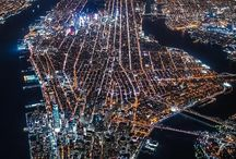 aerial night city