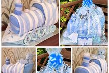 Nappy cakes / Nappy cakes are made with baby essentials and nappies to help any new parents few weeks of parenthood a little bit easier.