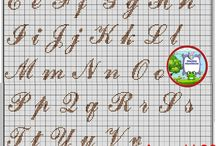 alfabeto Pinto cruz