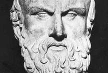 Mis amigos / Mis compañeros y rivales de las Dionisíacas siempre fueron Esquilo y Eurípides. También Herodoto y Pericles fueron amigos míos, aunque nunca mostré demasiado interés por la política.