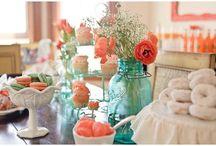 Orange Peach and coral!